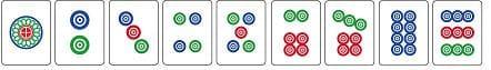 Tessere cerchio del Mahjongg